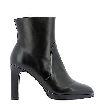 Stuart Weitzman Alanidsnblk Women's Black Leather Ankle Boots