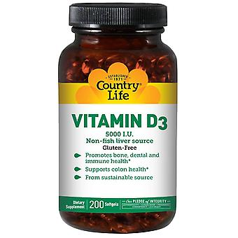 Landleben, Vitamin D3, 5.000 I.E., 200 Softgels