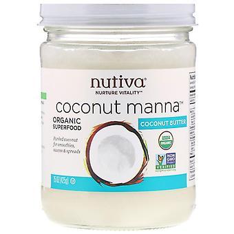 Nutiva, Organic, Coconut Manna, Pureed Coconut, 15 oz (425 g)