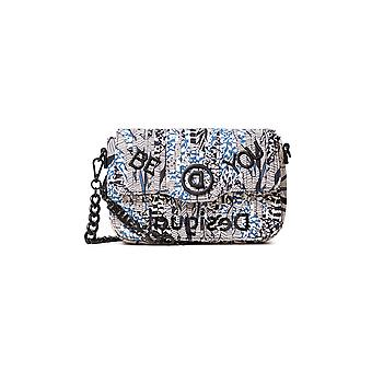 Desigual Blue Forest Amorgos Sling Bag Be You Cloth Strips 20WAXA86
