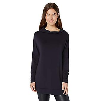 Brand - Daily Ritual Women's Supersoft Terry Moderne Tragt-Neck Tunika, Navy, Small