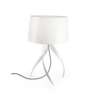 Leds-C4 GROK - 1 Light Table Lamp with White Fabric Shade, E27