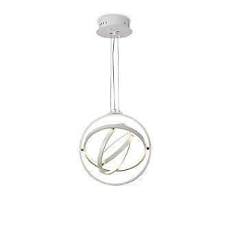 Plafond hanger rond 40cm, 3 ring, 54W LED 3000K, 2000lm, RF afstandsbediening wit
