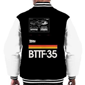 Back to the Future 35th Anniversary Delorean Notes Men's Varsity Jacket