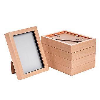 Nicola Frühling Licht Holz Effekt 5 x 7 Box Fotorahmen - stehend & hängend - Packung mit 5