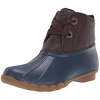 Sperry vrouwen ' s zout water 2-oog leder bruin/Navy Rain boot