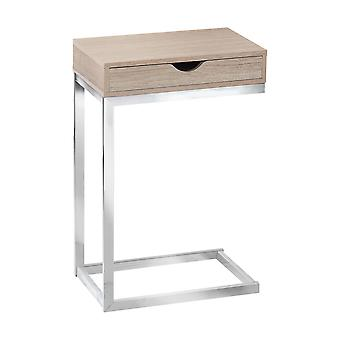 """10.25"""" x 15.75"""" x 24.5"""" Natural Finish Metal Drawer Accent Table"""