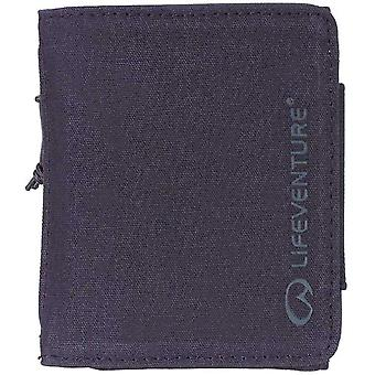 lifeventure rfid protected wallet - navy waxed canvas