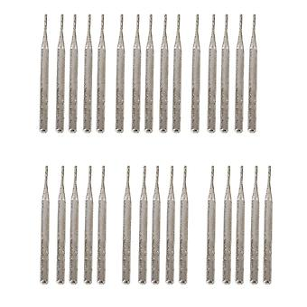 30 x Diamond Glass Burr Bits Drill Engraving Carving Rotary Tool 1mm Cylindrial