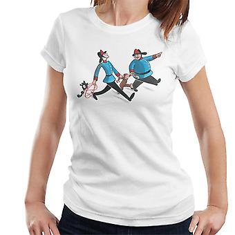 Curioso George Fire Department Donne's T-Shirt