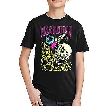 Mastodon Kids T Shirt Space Colorization Logo new Official Black Ages 5-14 yrs