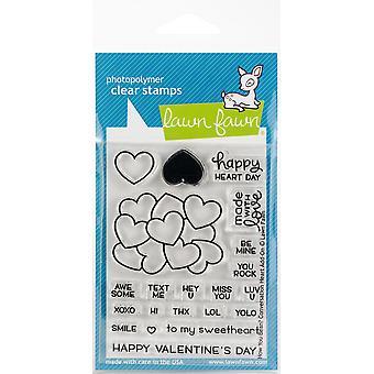 Nurmikon Fawn Miten Bean? Keskustelu Heart Add-On Clear Postimerkit