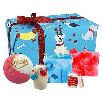Bombe Cosmétiques Santa Paws Boîte cadeau