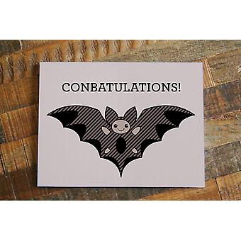 Congratulations Bat-greeting Card