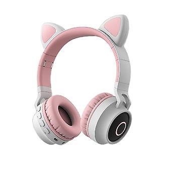 Roztomilý Cat Bluetooth 5.0 Headset Bezdrátová Hifi hudba / dcera Headset pro PC
