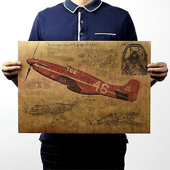 P15 مقاتلة الطائرات الهيكلية خمر كرافت ورقة ملصق