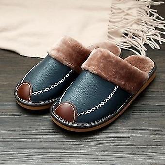 Leer warme indoor slipper waterdichte home heren schoen.