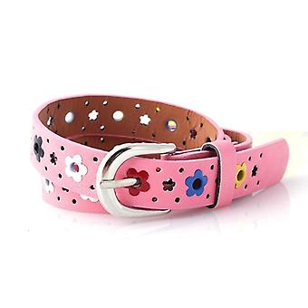 Boys And Hollow Butterfly Flowers Belts, Pu Leather Belt Waistband