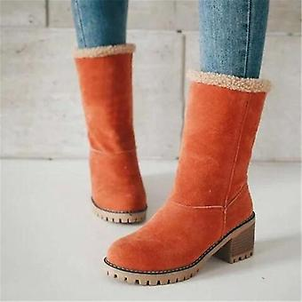Women Winter Warm Snow Boots Wool Booties Ankle Boot Comfortable Shoes