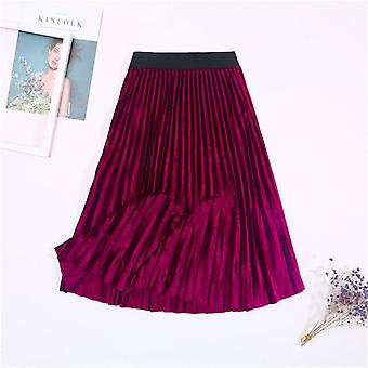 Ladies Vintage Automne Winter Women Velvet Skirt High Waiste Elegant Sexy Skinny