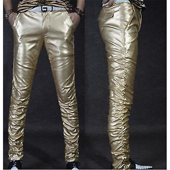 Winter Line Sexy Slim Tight Male Leather Pant