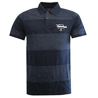Timberland Earthkeepers Navy Panel Baumwolle Herren Polo Top Shirt 7325J 433 R12B