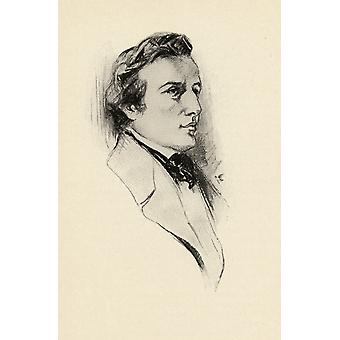 Frdric Franois Chopin 1810-1849 Polish Composer And Outstanding Pianist Portrait By Chase Emerson American Artist 1874-1922 PosterPrint