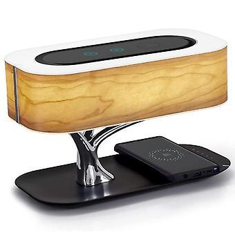 Modern Tree Design, Led Tafellamp met Bluetooth-luidspreker, telefoonlader