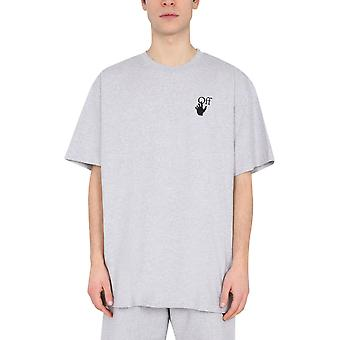 Off-white Omaa038r21jer0020825 Mænd's Grey Cotton T-shirt