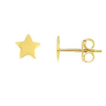 14 ك الأصفر الذهب النجوم المرصع