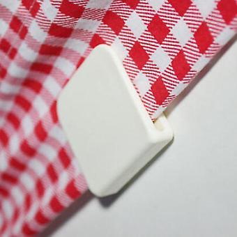 Adhesive Fixation Shower  Clip Household Bathroom (white)