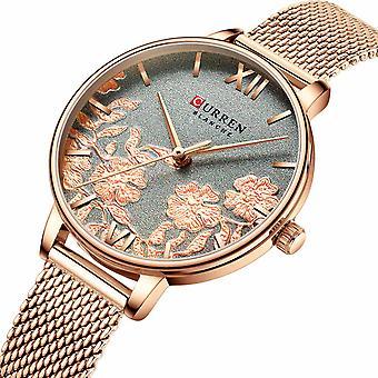 CURREN 9065 Flower Show Fashionable Ladies Wrist Watch Waterproof Quartz Watches