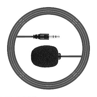 3.5mm Hands-free Mini Wired Clip-on Lapel Lavalier Microphone For Pc Laptop