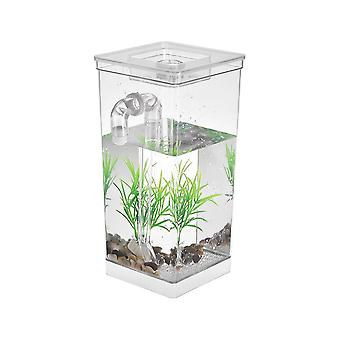 Self cleaning small desk fish tank bowl for office home creative gifts for children