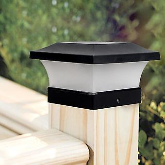 Solar Fence Light Landscape Lamp Garden Post Cap Waterproof Outdoor Column Deck
