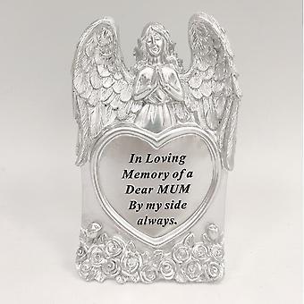 David Fischhoff Silver Praying Angel Heart Mum Memorial Standing Plaque