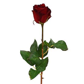 Botão artificial rose branch 52 cm vermelho