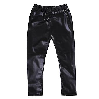 Baby Fashion Solid Color Cool Leather Stretch Skinny Pants