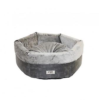Yagu Royal Bed Silver 48X48X17 (Dogs , Bedding , Beds)