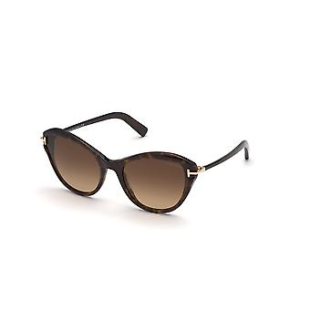 Tom Ford Leigh TF850 52F Dark Havana/Brown Gradient Sunglasses