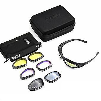 Taktisk polariseret, Army solbriller med 4-linse kit til udendørs sport