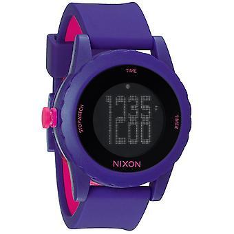 Nixon el genio Digital silicona reloj para hombre A326230