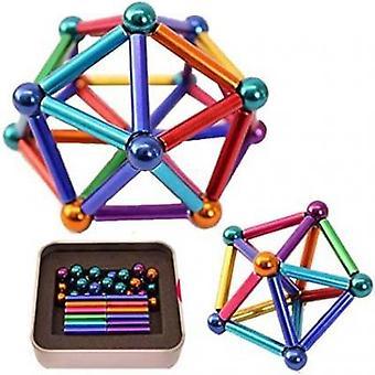 Magnetische ballen en palen van 8 mm neodymium - cadeau set