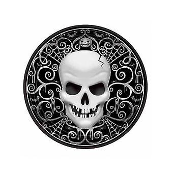 8 Halloween death head kartonnen platen