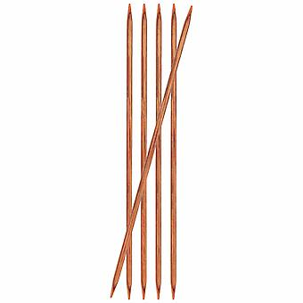 KnitPro Ginger: Knitting Pins: Double-Ended: 15cm x 5.50mm: Set of 5