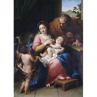 Mengs - The Holy Family with the infant St John N070660. Large Framed Photo. APSLEY HOUSE, London..