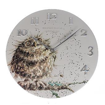 Wrendale Designs Wall Clock Owl Design