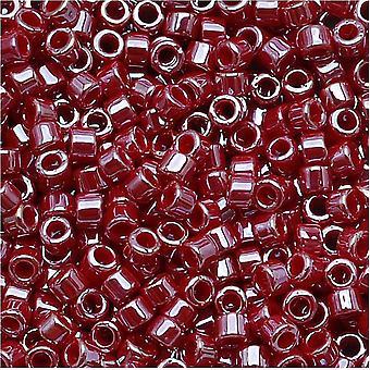 Бусины Miyuki Delica, 11/0 Размер, 7.2 Граммы, Непрозрачный Кадиллак Красный Блеск DB1564