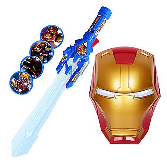 Cross Telescopic, Laser Sword Toy For With Flashing Light Mask