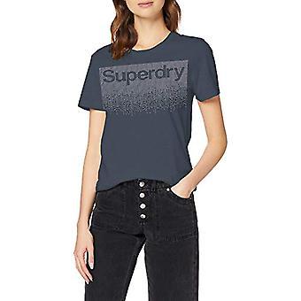 Superdry Swiss Logo Cascade Entry Tee T-Shirt, Blue (Eclipse Navy 98t), S Woman